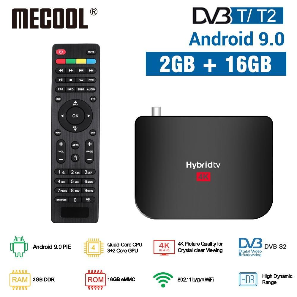 MECOOL 2020 NEW M8S Plus DVB T/T2 Android 9.0 TV Box Amlogic S905X2 4K H.265 2.4G WiFi Set Top Box